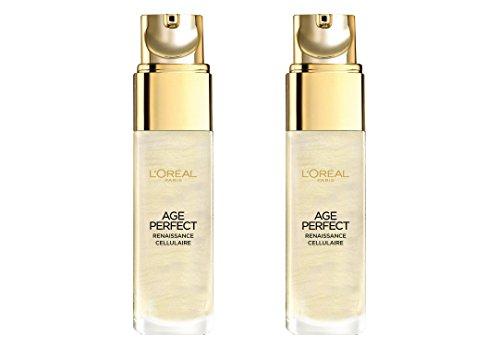 2x L'Oréal Paris Age Perfect/ ,,Gold' Serum/ für reife Haut/ Zell-Renaissance/ Gesichtspflege/ je...