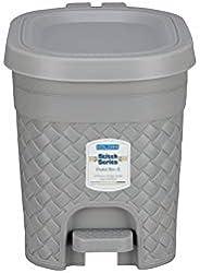 Kolorr Stitch Pedal Waste Bin Modern Design Trash Can Plastic Dustbin - 4L (Daiso Grey)