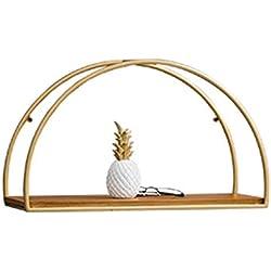 LTJTVFXQ-shelf Goldenes Regal Wand Dekorationen Wandbehang Cafe Restaurant Tee Shop Anhänger Wandbehang (Farbe : Gold, größe : 50cm)