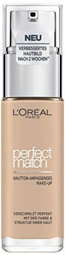 L'Oréal Paris Perfect Match Foundation, flüssiges Make-Up, deckend und feuchtigkeitsspendend für...