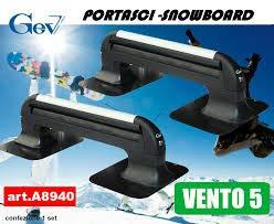 Autoadhoc Portasci Magnetico Gev (Vento 5) per 4/5 Paia di Sci e Snowboard