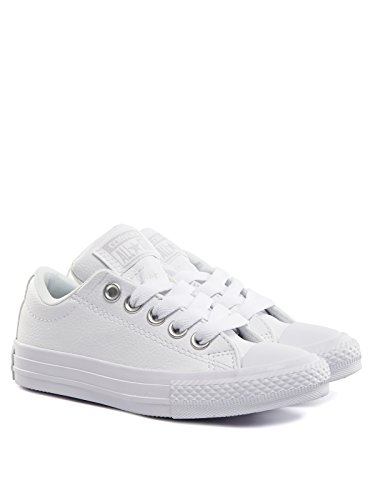 Converse Chuck Taylor All Star Street Junior White Synthetic Trainers White