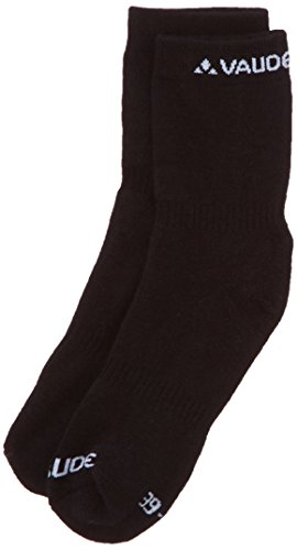 VAUDE Socken All Mountain Wool Socks, Black, 45-47, 03695 (Socks Wool Apparel Herren)