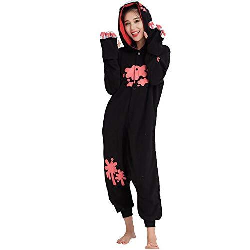 HSTV Ours Pyjama Animal Kigurumi Onesies Cosplay Costumes Vêtements De Nuit,Black,L