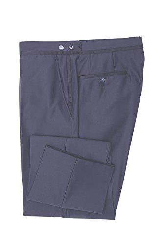 WILVORST Smoking Hose Mitternachtsblau Glänzend Super Slim Line DROP 8 sehr schmal geschnitten 26