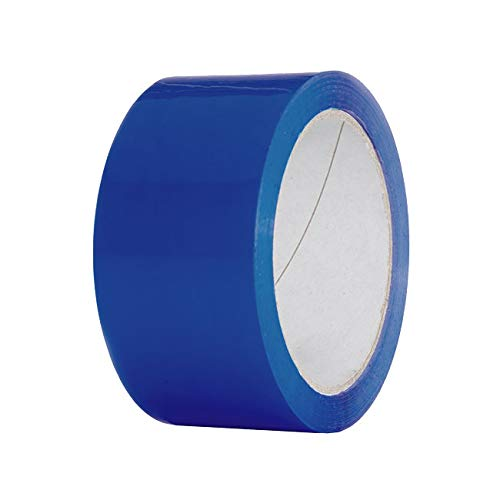 Enviro Pack Klebeband BLAU - 50 mm x 66 m leise abrollend, für Gewebe, Papier, PVC, Glass oder Metall, 36 x Packband blau