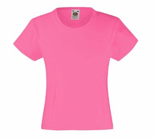 Mädchen T-Shirt Girls Kinder Shirt - Shirtarena Bündel 140,Fuchsia - Mädchen Rosa Armee T-shirt