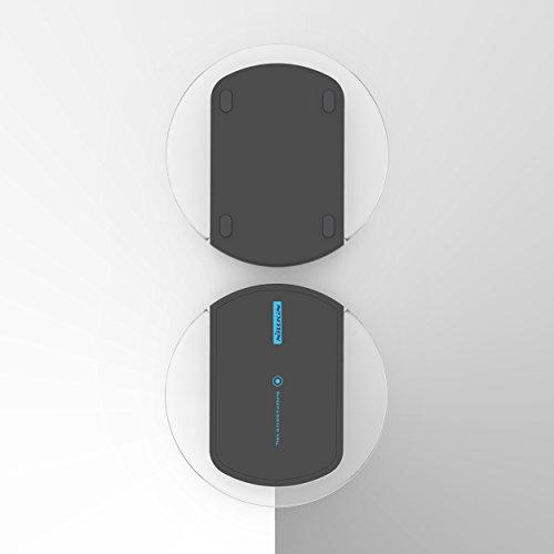 URCOVER® Caricatore Caricabatterie Qi Wireless Senza Fili per iPhone / Samsung / Huawei / Nokia / Htc / Sony Xperia / Lg / Motorola   Stazione di ricarica a induzione Qi [ Nero ] Magic Disk 2 Nero