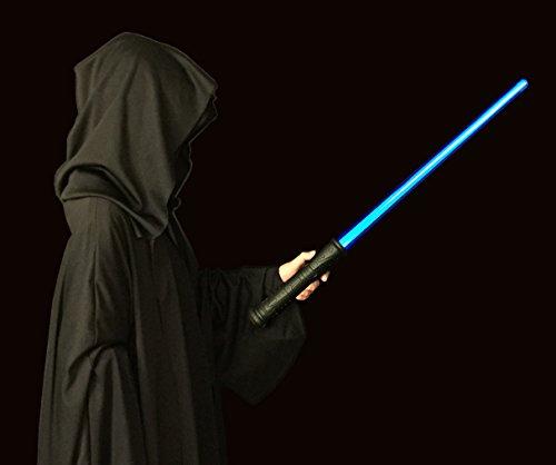 GlitZGlam Galaxy Ice Lichtschwert - Deluxe blaues leuchten Schwert mit echte Einschalt- und Bewegungsklänge, besondere Haltbarkeit und Geschenk-fertig verpackt. Blaue Lichtschwert (Zwei-jährigen Jungen Halloween-kostüm)