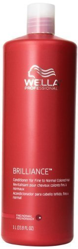 Wella Brilliance Conditioner for Fine To Normal Hair for Unisex, 33.8 Ounce by Wella [Beauty] by Wella
