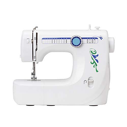 Máquina de coser-14 Patrones de puntada Pedal eléctrico Doble control de velocidad Máquina de coser con prensatelas reemplazables 2 velocidades