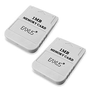 Eaxus® Parent️ PS1 PSX PSOne Memory Card Speicherkarte 1 MB Weiß für Playstation 1 auch in Playstation 2 verwendbar