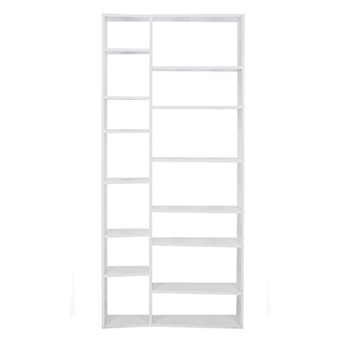 Paris Prix - Temahome - étagère Bibliothèque valsa 14 Casiers Blanc Mat