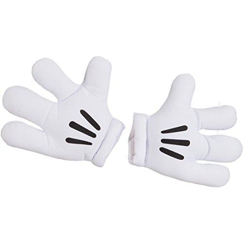 Kostüme Maus Accessoires (Mickey Handschuhe Maus Riesenhände Minnie Maus Riesenhandschuhe Paar Jumbo Handschuh Comichände Comic Figur Körperteile Karnevalskostüme)