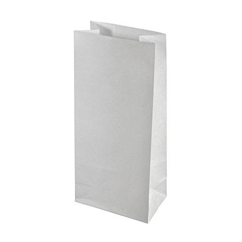 Rayher 67247102 Papier-Blockbodenbeutel, 10x24x5,7cm, SB-Btl 20Stück, weiß (24 24 Sb)