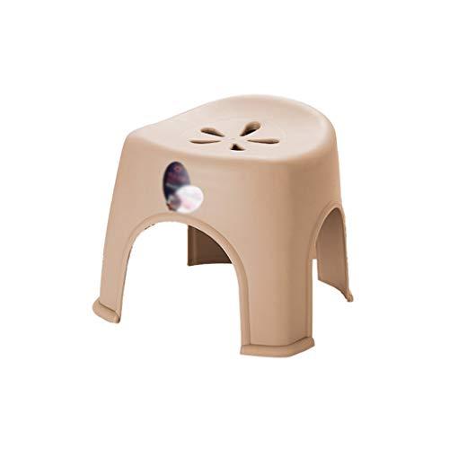 Kindergarten-Schemel, Kind-Baby eingeweihter kleiner Sitz-niedriger Schemel-Plastik Breathable beständiger kleiner Bank-kleiner Schemel-Stuhl im Freien (Color : Khaki, Size : 28 * 27 * 31CM)