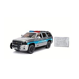 Dickie Toys 253745003 2010 Chevy Tahoe Wave 1 - Vehículo con Rueda Libre, Jada Toys 20 años de Aniversario, Plateado y Metalizado Cepillado
