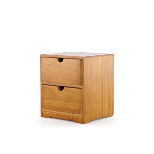 Massivholz Desktop Kosmetische Schublade Aufbewahrungsbox Organizer Holz Aufbewahrungsbox Schrank Regal Cosmetic Organizer , two layer (Kunst Und Kunsthandwerk-speicher)