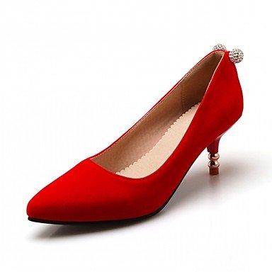 Talloni delle donne Primavera Estate Autunno Inverno Dress Comfort novità PU similpelle nozze ufficio & carriera Party & Sera casuale tacco grosso Red