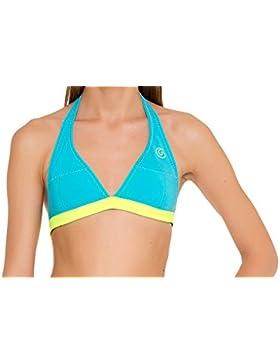 GlideSoul para Mujer–Alto de Bikini Dos NU, Mujer, 105BT1020, Azul, Amarillo, Medium
