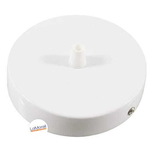 Rosace cylindrique en métal Diamètre 120 mm. Blanc