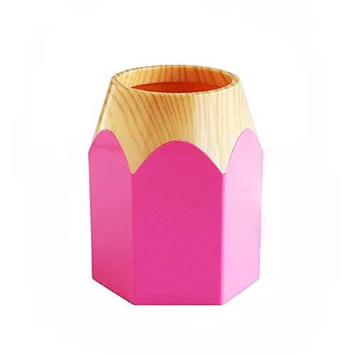 Da.wa 6.5x10.5x8.7cm pencil tip design portapenne pencil cup pot desk tidy pink