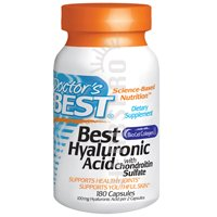 Doctor's Best Hyaluronic Acid with Chondroitin Sulphate, 180 Capsules by Doctor's Best