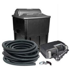 Hozelock Tricoflex 1866 1582 Ecopower+ 20000 Gartenteichfilter mit integrierten UVC, Schwarz, 50,8 x 40,5 x 29,1 cm