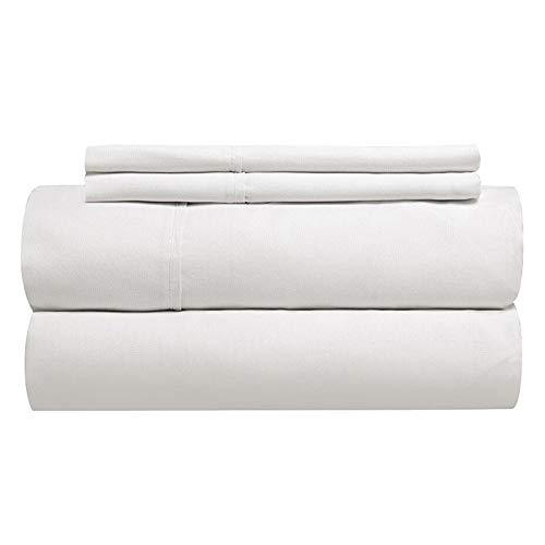 Gotcha der Classic Collection American Leder Comfort Hochbett Weiß Baumwoll-Perkal-Bettlaken-Set, Queen-Plus, weiß -