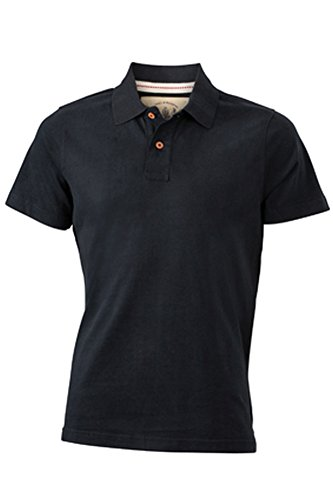 Men's Vintage Polo im digatex-package Black