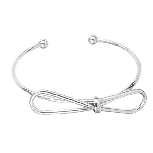 Bogen-Knoten-Armbänder Frauen Einfache Cuffs Stretch-Armband Mit Justierbaren Armband-Geschenke Für Bridesmaids