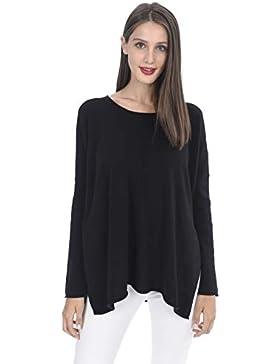 State Cashmere Suéter pulóver de tamaño Grande de Cuello Redondo de Cachemira Pura 100% para Mujer