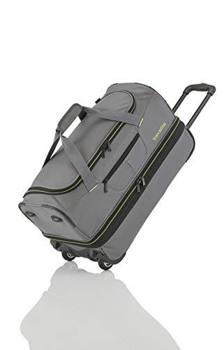 Travelite Sac de voyage à roulettes 'Basics' 70cm gris/vert Reisetasche, 70 cm, 98 liters, Mehrfarbig (Gris/vert)