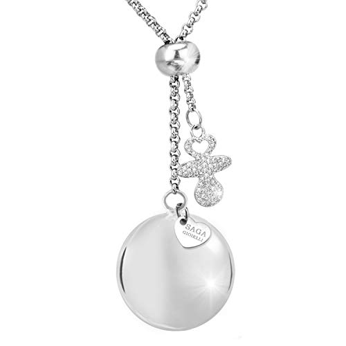 Saga gioielli collana chiama angeli bola saliscendi lunghezza regolabile charm ciuccio