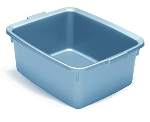 Addis Eco Spülschüssel, rechteckig, aus 100% recyceltem Kunststoff, 12 l, 42 x 33 x 27 cm, Hellgrau (Eco Cd-hüllen)