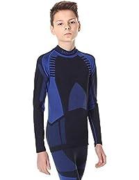 Ladeheid Kinder Mädchen Jungen Funktionsunterwäsche Langarm Shirt Thermoaktiv LASS0008