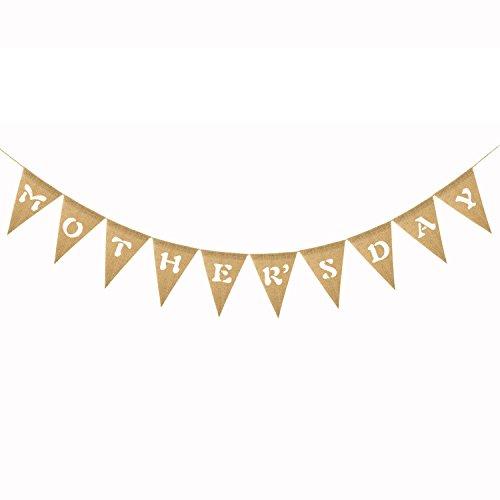 leinen Banner Bunting Flags hängen Deacoration für Muttertag Party Supplies ()