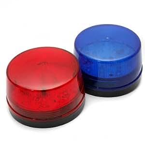 Haute Qualité Sécurité 12V LED Strobe alarme Signal d'avertissement Lampe Bleu Rouge Clignotant - Red