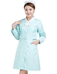 ESENHUANG Mujeres Ropa De Abrigo Médico Enfermera Uniforme De Manga Larga/Corta Uniforme Enfermera Ropa