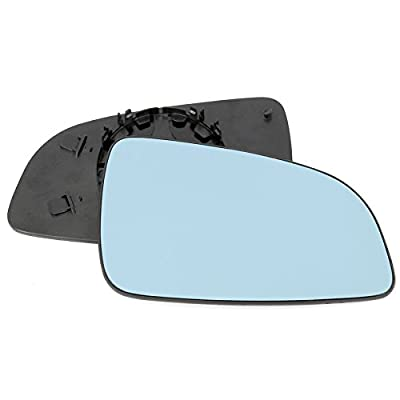 For Vauxhall Astra H 2004-2009 Driver right hand side wing door mirror convex blue glass with backing plate 2004 2005 2006 2007 2008 produced by Sylgab - quick delivery from UK.
