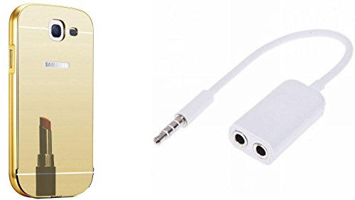 Novo Style Luxury Mirror Effect Acrylic back + Metal Bumper Cover for Samsung Galaxy Note 2 7100  Golden +  3.5mm Stereo Audio Male to 2 x 3.5mm Female Earphone Splitter Cable Adapter for Smart Phone  available at amazon for Rs.349