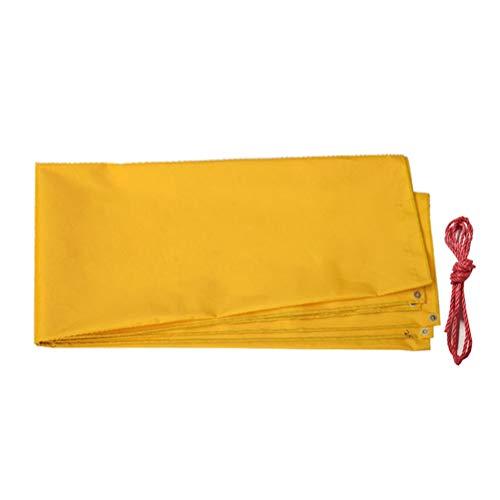 Plane Regenschutz Tuch wasserdichte Sonnencreme Verdicken Farbstreifen Dreirad Auto LKW Außenplane Schwere LIUDINGDING (Color : Yellow, Size : 5x8m)
