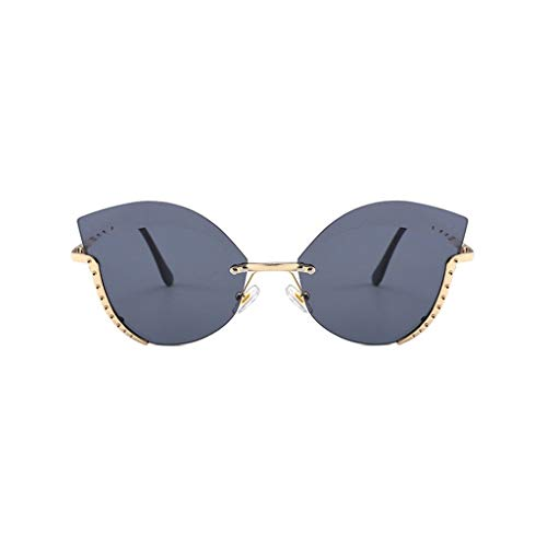 ZHAO YELONG Sonnenbrille Sonnenbrille Mit Halbrahmen Aus Metall Für Den Außenbereich UV400 (Color : Black)