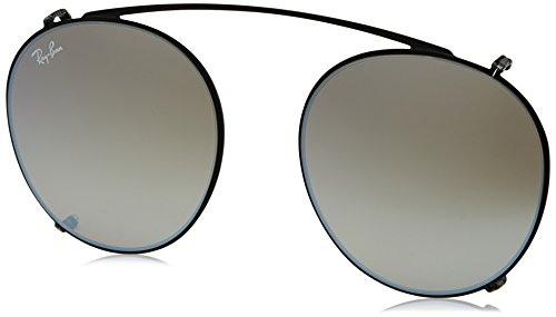 Ray-Ban - ROUND FLECK RX 2447V, Rund, Metall, Herrenbrillen, BLACK/GREY GOLD MIRROR(2509/B8), 49/21/0