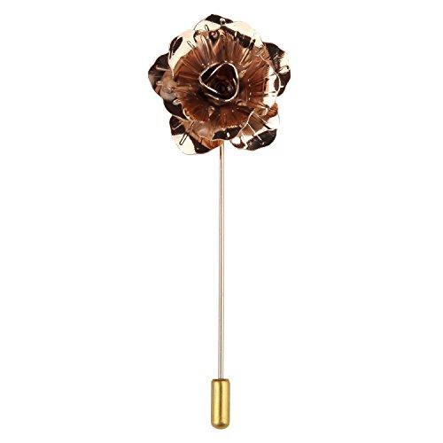 Ansteckblume, Knopflochblume Blume im Knopfloch Metall Boutonnière Geschenkbox von Puentes Denver - Gold (Signatur Akzente)