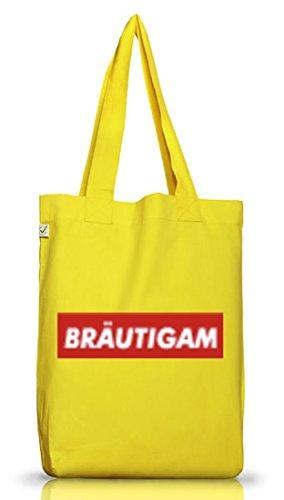 (Jutebeutel Bräutigam Geschenkidee Partner Gruppen Kostüm Mode JGA Feier Graffiti Streetart, Größe: onesize,Yellow)