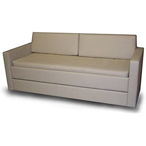 Cama litera con mecanismo innovador, equipado con un sistema de seguridad. Dos colchónes de buena calidad incluido! Tapicería de tela. Producto MADE IN