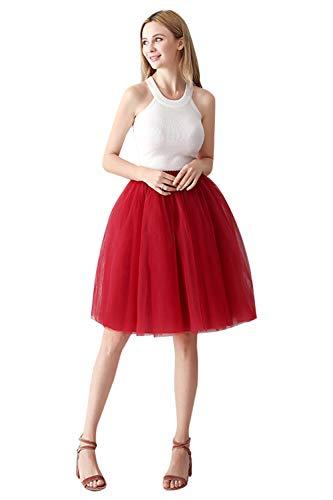 Getragen Reh (Babyonlinedress® Damen Tüllrock TuTurock Vintage Retro Swing Unterrock Petticoat Partyrock Knielang)