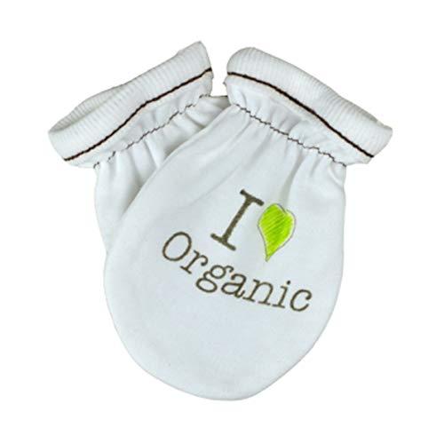 For Babies - Gants anti-rayures pour bébé - 100% coton bio - Fabriqué en Union Européenne I love organic