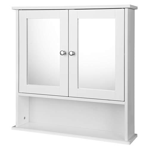 EUGAD Armarios con Espejo para Baño Cocina Mueble Espejo para Baño Mueble de Pared de baño Espejo...